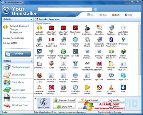 Ekran görüntüsü Your Uninstaller Windows 7