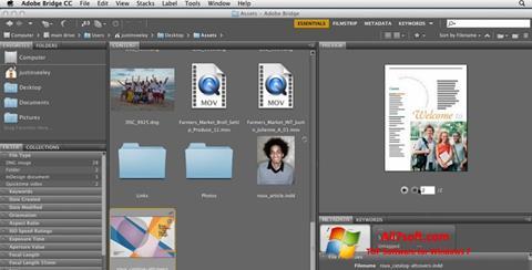 Ekran görüntüsü Adobe Bridge Windows 7