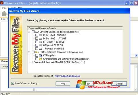 Ekran görüntüsü Recover My Files Windows 7
