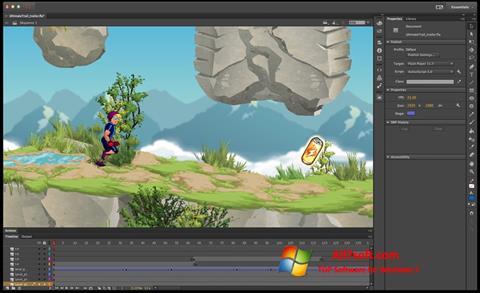 Ekran görüntüsü Adobe Flash Professional Windows 7