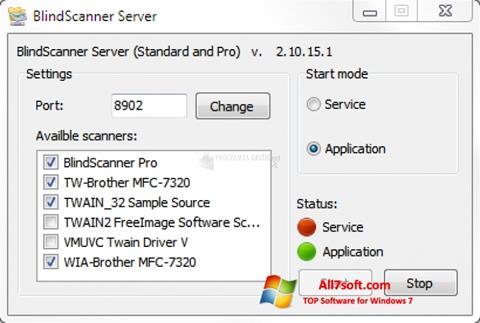 Ekran görüntüsü BlindScanner Windows 7