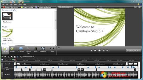 Ekran görüntüsü Camtasia Studio Windows 7