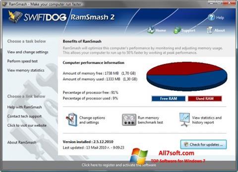 Ekran görüntüsü RamSmash Windows 7