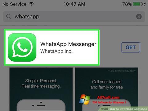 Ekran görüntüsü WhatsApp Windows 7