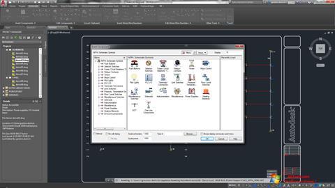 Ekran görüntüsü AutoCAD Electrical Windows 7