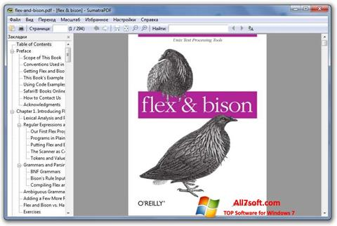 Ekran görüntüsü Sumatra PDF Windows 7