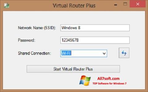 Ekran görüntüsü Virtual Router Plus Windows 7