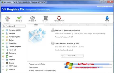 Ekran görüntüsü Vit Registry Fix Windows 7