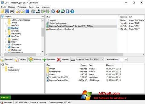 Ekran görüntüsü CDBurnerXP Windows 7