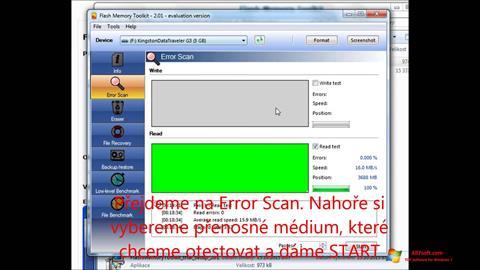 Ekran görüntüsü Flash Memory Toolkit Windows 7