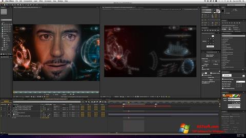 Ekran görüntüsü Adobe After Effects Windows 7