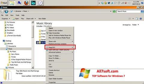 Ekran görüntüsü MagicISO Windows 7