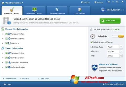 Ekran görüntüsü Wise Disk Cleaner Windows 7