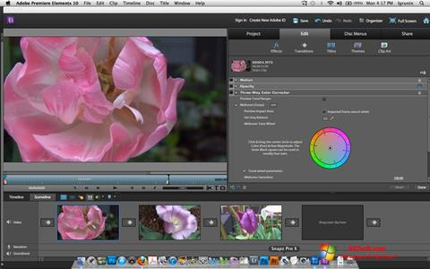 Ekran görüntüsü Adobe Premiere Elements Windows 7