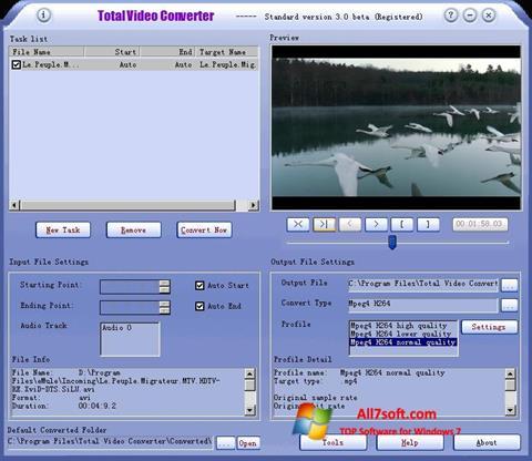 Ekran görüntüsü Total Video Converter Windows 7