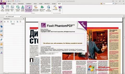 Ekran görüntüsü Foxit Phantom Windows 7