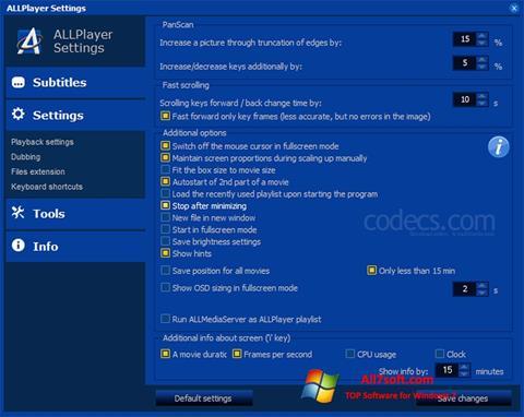 Ekran görüntüsü ALLPlayer Windows 7