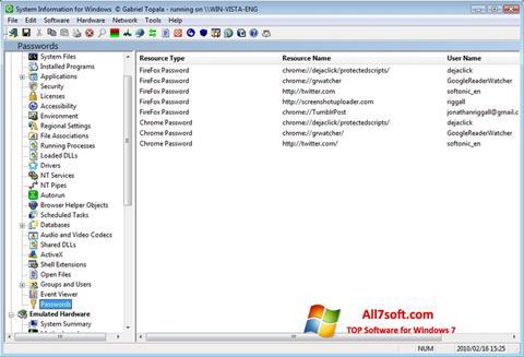 Ekran görüntüsü SIW Windows 7