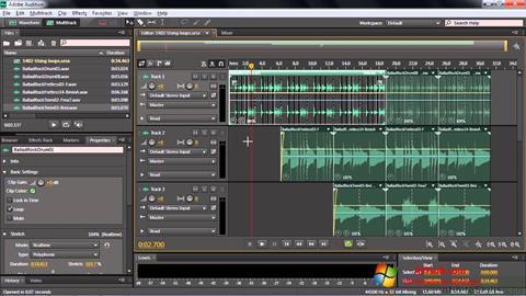 Ekran görüntüsü Adobe Audition CC Windows 7