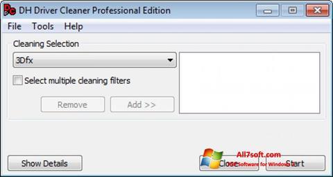 Ekran görüntüsü Driver Cleaner Windows 7