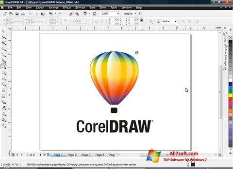 Ekran görüntüsü CorelDRAW Windows 7