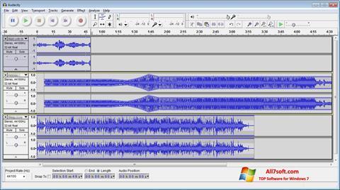 Ekran görüntüsü Audacity Windows 7