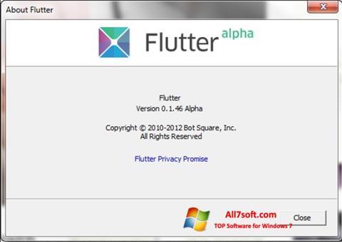 Ekran görüntüsü Flutter Windows 7