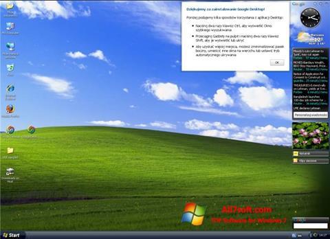 Ekran görüntüsü Google Desktop Windows 7