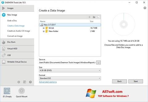 Ekran görüntüsü DAEMON Tools Lite Windows 7