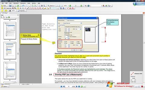 Ekran görüntüsü PDF-XChange Viewer Windows 7