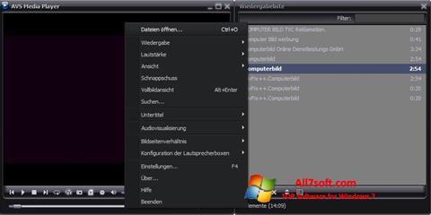 Ekran görüntüsü AVS Media Player Windows 7