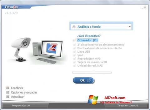 Ekran görüntüsü PrivaZer Windows 7