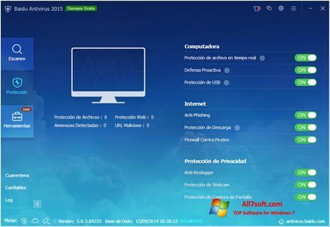 Ekran görüntüsü Baidu Antivirus Windows 7