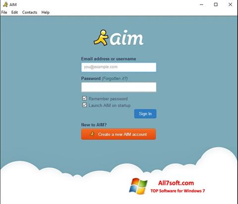Ekran görüntüsü AOL Instant Messenger Windows 7
