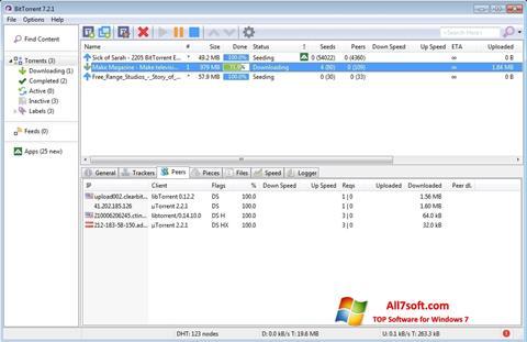 Ekran görüntüsü BitTorrent Windows 7