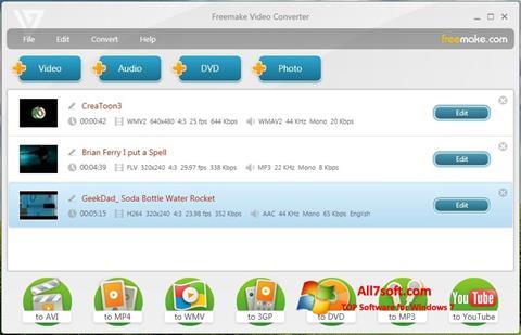 Ekran görüntüsü Freemake Video Converter Windows 7