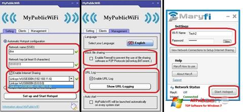 Ekran görüntüsü MaryFi Windows 7