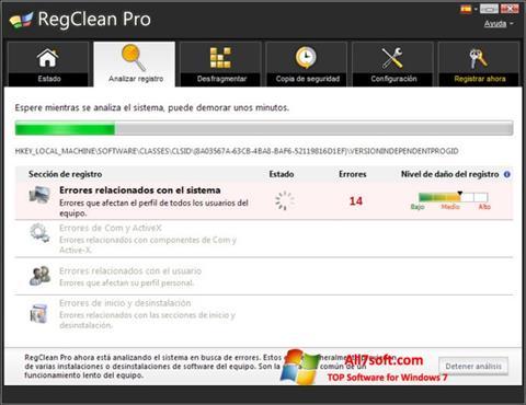 Ekran görüntüsü RegClean Pro Windows 7