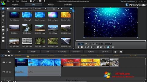 Ekran görüntüsü CyberLink PowerDirector Windows 7