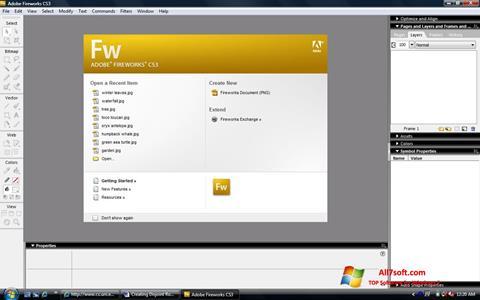Ekran görüntüsü Adobe Fireworks Windows 7