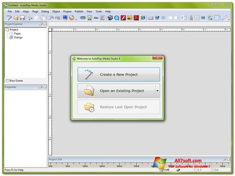 Ekran görüntüsü AutoPlay Media Studio Windows 7