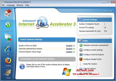 Ekran görüntüsü Ashampoo Internet Accelerator Windows 7