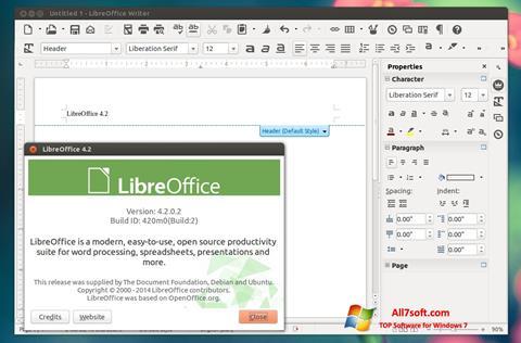 Ekran görüntüsü LibreOffice Windows 7