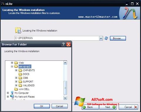 Ekran görüntüsü nLite Windows 7