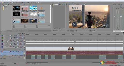 Ekran görüntüsü Sony Vegas Pro Windows 7