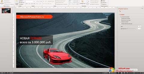 Ekran görüntüsü Microsoft PowerPoint Windows 7