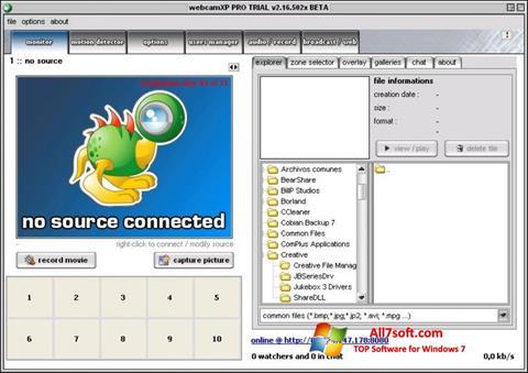 Ekran görüntüsü webcamXP Windows 7