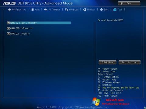 Ekran görüntüsü ASUS Update Windows 7