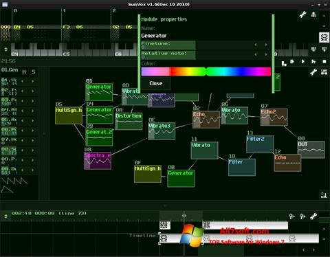 Ekran görüntüsü SunVox Windows 7