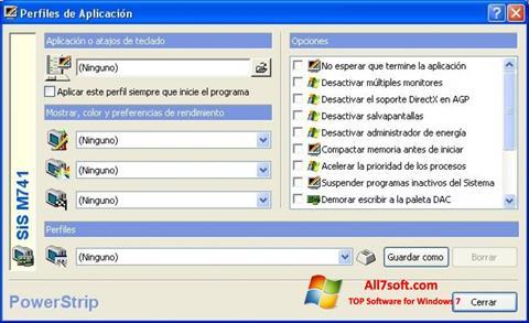 Ekran görüntüsü PowerStrip Windows 7